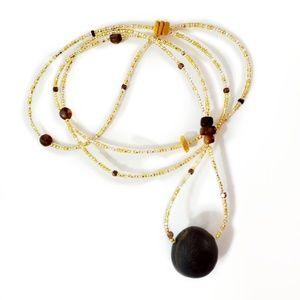 Florida Coast Seabean Beaded Layering Necklace